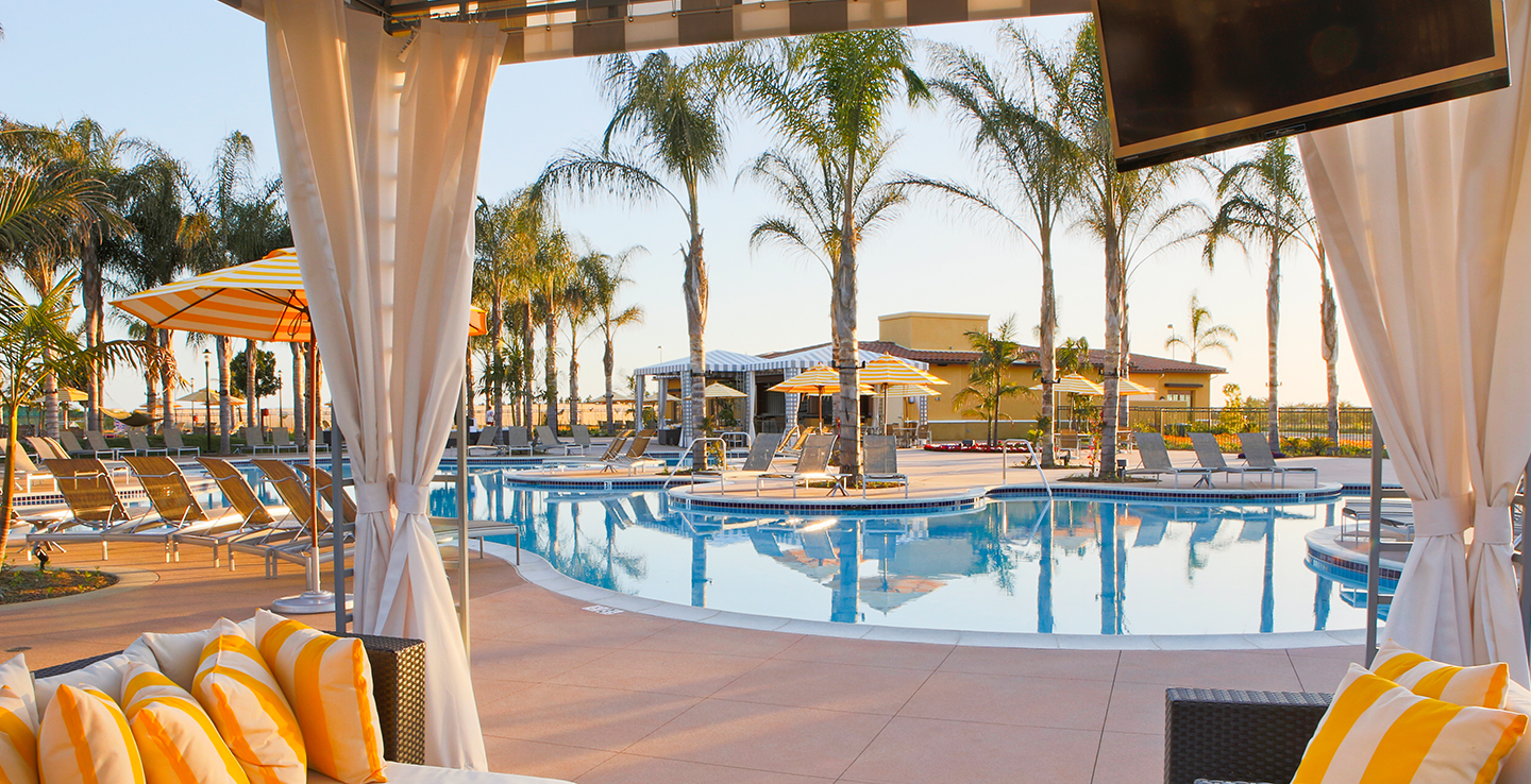 BASK IN WARM CALIFORNIA SUNSHINE AT ANY OF OUR 3 SPARKLING POOLS FOR ADULTS AND FAMILIES