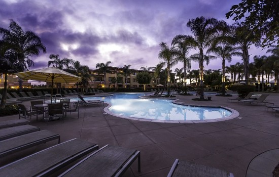 Welcome To MarBrisa Carlsbad Resort - The Cove Pool at Sunset